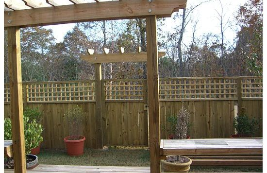 Fence Pergola East Atlanta 2349 Charleston Pointe HausZwei Homes Kevin Polite