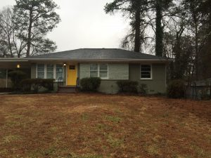 Mid Century painted brick ranch Decatur House For Rent Meadowbrook Acres Belvedere Park