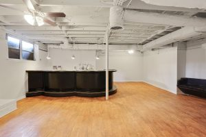 Basement showing bar in Historic Collier Heights