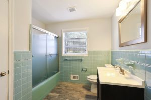 Bathroom with original Mid Century tile