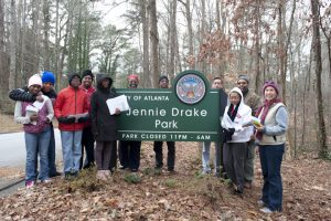 Jenny Drake Park in Collier Heights. Upkeep by Friends of Jennie Drake a partnership with Park Pride Atlanta