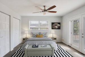 Master Bedroom staged in Collier Heights