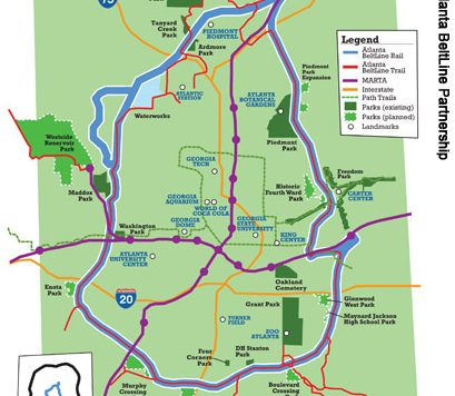 Atlanta beltline map