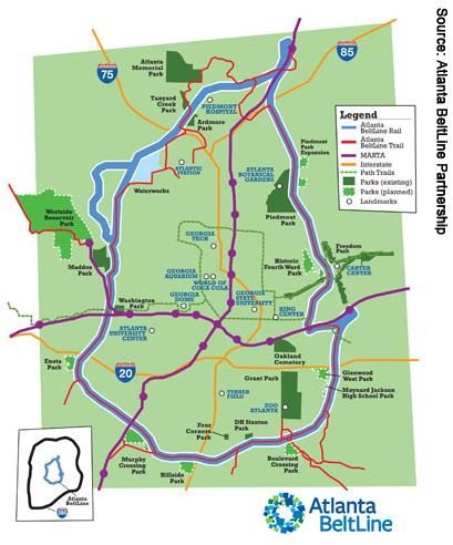 Atlanta Beltline Map Hauszwei Homes