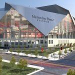 Mercedes Benz Stadium home of the Atlanta Falcons and Atlanta United
