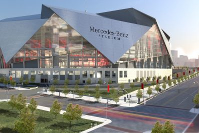 Mercedes Benz Stadium home of the Atlanta Falcons and Atlanta United