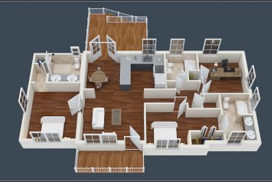 3D floorplan 3187 Bonway Dr Decatur 30032