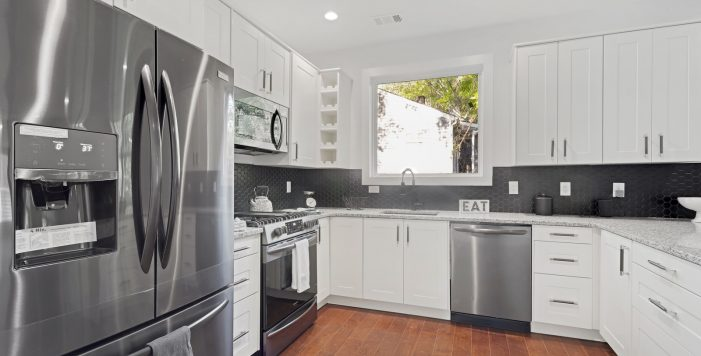 black stainless steel appliances 3573 Orchard Circle Kitchen Peachcrest Belvedere Park Homes For Sale New Construction