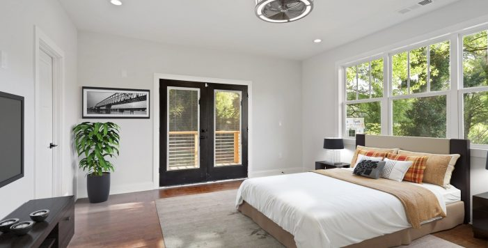 en suite bedroom french doors 3573 Orchard Circle New Construction Decatur New Homes hauszwei homes