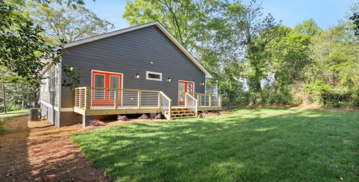 backyard deck orange french doors 3573 Orchard Circle New Construction Decatur New Homes hauszwei homes