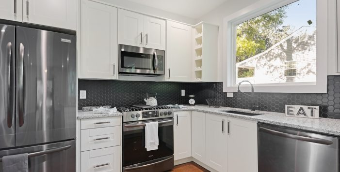 Peachcrest Belvedere Park Homes For Sale New Construction 3573 Orchard Circle Decatur 30032 white kitchen cabinets