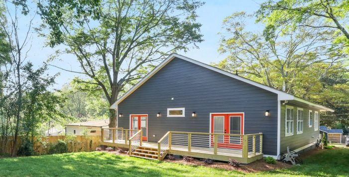 backyard deck orange doors 3573 Orchard Circle New Construction Decatur New Homes hauszwei homes