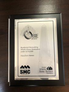 Greater Atlanta Homebuilder Association Obie Silver Award